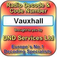 Vauxhall Radio Code Decode Unlock Service by Serial Number
