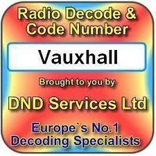 Vauxhall Radio Code Decode Unlock Service by Serial Number