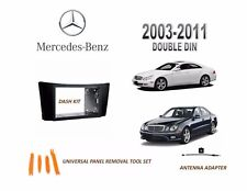 2003-2011 MERCEDES CLS, E CLASS DASH INSTALL KIT for CAR STEREO, w/ ADAPTER