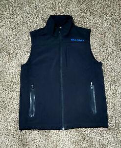 Ariat® Men's Vernon Softshell Black/Blue Vest 10011518 Size Small S/P