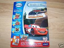 Vtech Create A Story Disney The World of Cars Lightning McQueen 2 Books Radiator