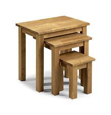 Julian Bowen Coxmoor Solid Wood American White Oiled Oak Nest of 3 Tables