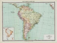 South America -  Map in 1908