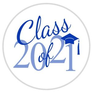 108 Graduation Label Class of 2021  Envelope Seals - Kisses Labels -Party Favors