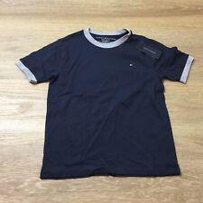 boys tommy hilfiger small 8 10  short sleeve ringer t-shirt blue