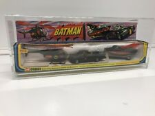 Vintage Batman 1976 Corgi GS-3 Batmobile, Batboat On Trailer And Batcopter 3-PAC