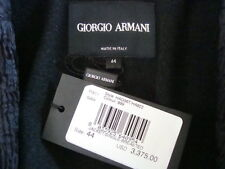 NWT$3375 GIORGIO ARMANI Made in ITALY Elegant Single Breasted Jacket Tag Sz 44
