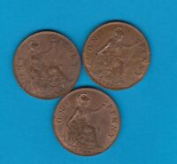 THREE PENNIES GEORGE V 1927/1931 & 1936 EXTREMELY FINE TO NEAR MINT CONDITION