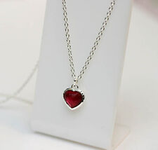 New IPPOLITA Sterling Silver Wonderland Small Heart Pendant Necklace Raspberry
