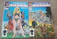 SHEENA: THE OFFICIAL MARVEL MOVIE ADAPTATION #1 & 2 Complete Set