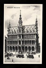 C1920s View of people & horse drawn transport outside Maison du Roi, Brussels