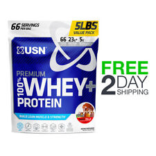 USN Premium 100% Whey+ Protein Build Lean Muscle & Strength 5LB - Wheytella