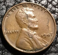1947 LINCOLN WHEAT CENT - 2 LARGE LAMINATION PEELS  - INV#5612