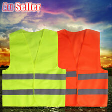 Safety Yellow Vest hi vis workwear Reflective Tape Work Jacket High Visibility