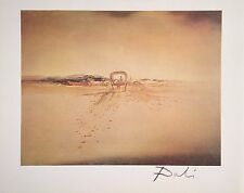 SALVADOR DALI HAND SIGNED SIGNATURE * THE GHOST WAGON *  PRINT W/ C.O.A.
