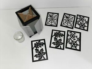 """PartyLite """"CHANGE-O CANDLE LUMINARY"""" Candle Holder Spider Leaf Snowflake"""