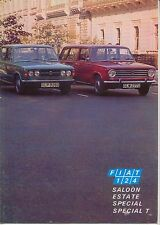 Fiat 124 Saloon Estate Special & Special T 1971-72 Original UK Sales Brochure