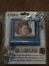 COBY - DIGITAL PHOTO ALBUM WITH ALARM CLOCK