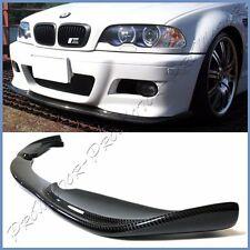 Fit BMW 01-06 E46 3-Series M3 OE Front Bumper H Type Carbon Fiber Front Add Lip