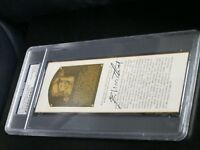 Eddie Matthews Al Lopez Autographed HOF Cut PSA Certified and Encapsulated