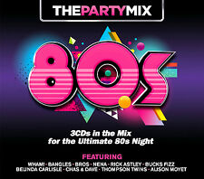 PARTY MIX 80's  NEW AND SEALED 3CD ULTIMATE EIGHTIES NIGHT. WHAM,BROS,BANGLES +