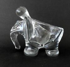 Elephant cristal vintage, Vannes France, cendrier avec pilon original