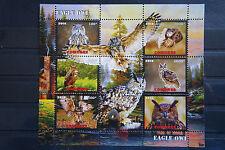 Vögel 106 birds Eulen owls Comores 2016 Tiere animals Fauna postfrisch ** MNH