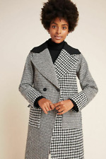 RRP - £170.00 Anthropologie NVLT Colorblocked Plaid Coat, Size M