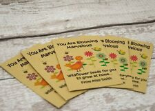 Teacher to Students | End of Term Gift | Seed Packets Wildflower Personalised