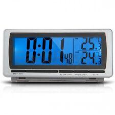Digital LCD Display LED Blue Backlight Car F/C Thermometer Clock Alarm Sensor
