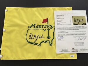 PHIL MICHELSON Signed Authenic Embroidered Undated Masters Flag, JSA Letter!