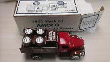 1995 MACK LJ  AMOCO STAKE TRUCK  WITH BARRELS BANK