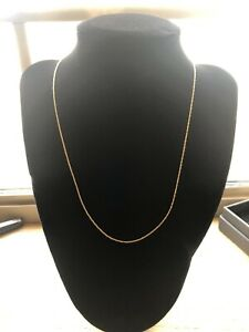 10KT Singapore Solid Yellow Gold Chain Delicate 18""