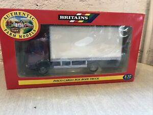 Britains Ford Iveco Cargo Box Truck in Red with White Body - 1:32 scale