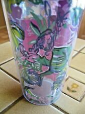 LILLY PULITZER MERMAID IN THE SHADE TRAVEL TUMBLER & STRAW 002730 NEW IN BOX