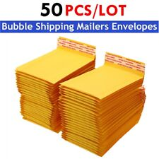 50pcs Kraft Bubble Mailer Envelope Bag Padded Bubble Shipping Mailers Envelopes