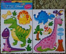 Childrens Kids Girls Boys Bedroom Dinosaur Wall Stickers Decals Stickarounds