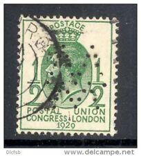 GB, 1929 ½d UPU  with perfin   W W   (D)