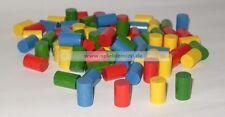 20 Zylinder * HOLZ SPIELSTEINE * Bastelmaterial * in 4 Farben 15 x 10 mm * NEU