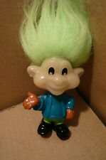 """BURGER KING 3""""TROLL-Chartreuse Hair-1993-Painted on Clothes & Shoes"""