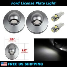 2x License Plate Lights Lens w/ White T10 LED Bulbs for 1980-2005 Ford F150 F250