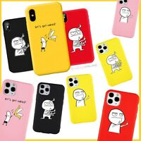 Slim Funny Antiknock Cartoon Case Cover For iPhone 12 MINI PRO MAX 11 8 XS SE