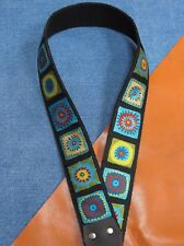 "COSMIC Cotton USA made 1-1/2"" A & F-style TROPHY Mandolin Strap"