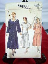 Vogue Patterns 9187 Dress Womens Size 10 Medium
