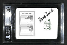 SIGNED AUTOGRAPHED DOUG FORD 1957 THE MASTERS WINNER GOLF SCORECARD BECKETT BAS