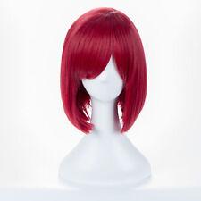 Danganronpa V3 Killing Harmony Yumeno Himiko Wine Bangs Bob Anime Cosplay Wig