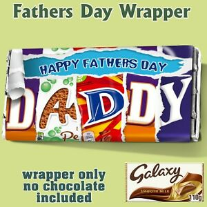 Fathers Day Chocolate Bar Wrapper Novelty Gift Present Dad Grandad Daddy