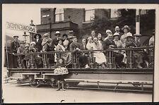 Transport Postcard - Blackpool Toast Rack Tram 295 Full of People - MB338