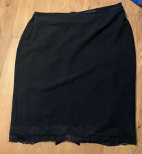 M&S Black Lace Trim Skirt - Size 18