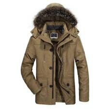 Hot Mens Winter Jacket Hooded Fur Collar Outdoor Thicken Warm Outwear Parka Coat